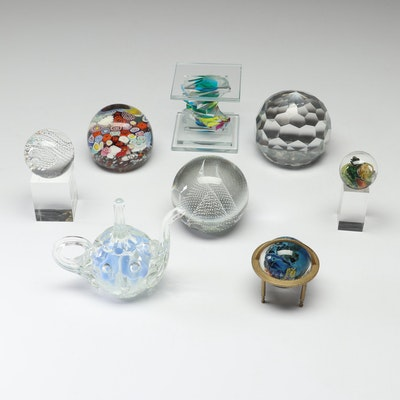 Blown Glass Paperweights, Late 20th Century and Contemporary