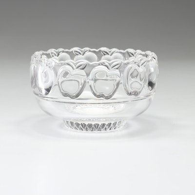 "Tiffany & Company Crystal ""Apple"" Bowl, Late 20th Century"