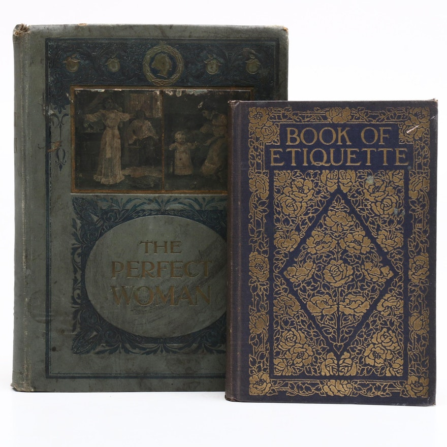 "1901 ""Perfect Womanhood"" and 1922 ""Book of Etiquette"""