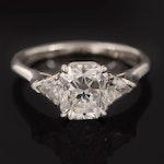 "Tiffany & Co. ""Lucida Collection"" Platinum 2.36 CTW Diamond Ring"