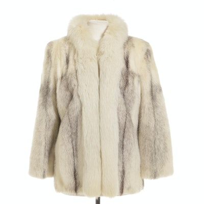Emilio Gucci Cross Mink and Fox Fur Jacket, Vintage