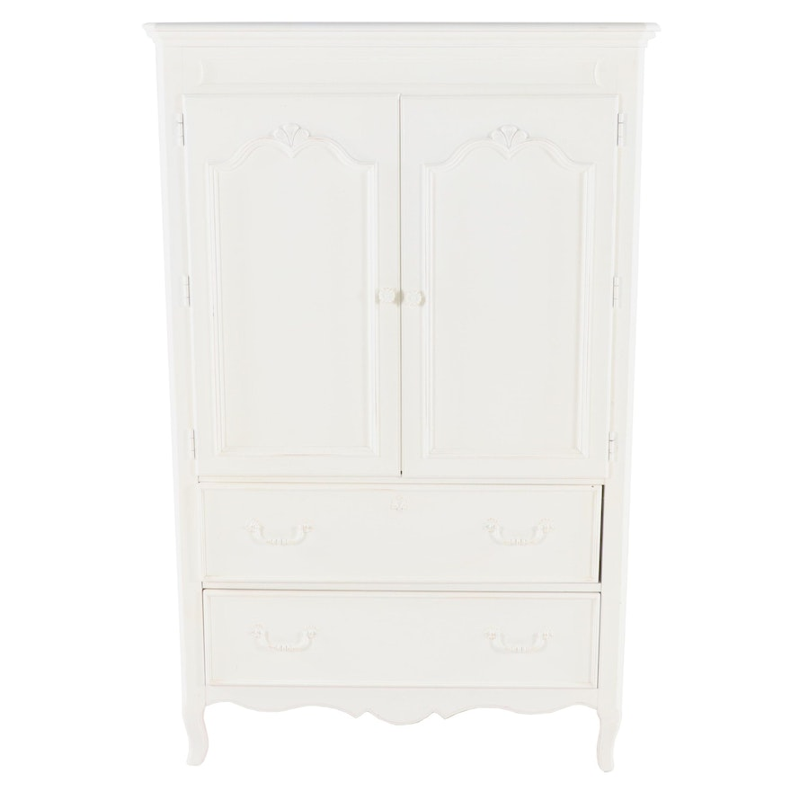 Contemporary Stanley Furniture Young America White Painted Wood Chest