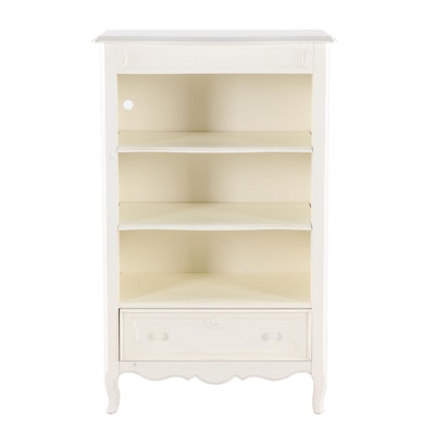 Contemporary Stanley Furniture Young America White Painted Wood Bookcase