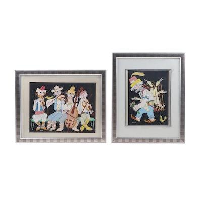 Jovan Obican Acrylic Paintings