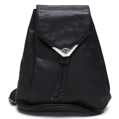 Harley-Davidson Black Leather Backpack