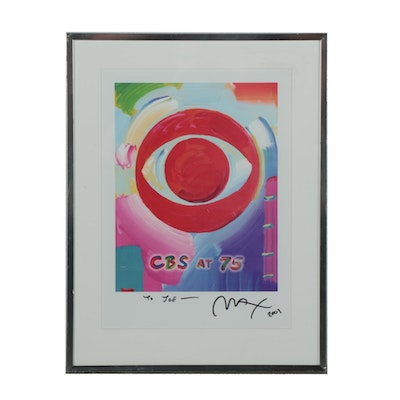"Peter Max Giclée ""CBS at 75"""