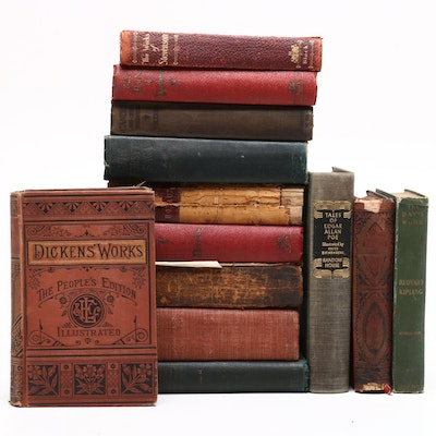 """Anthologies including 1900 """"The Works of William Makepeace Thackerary"""" Volume IV"""