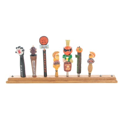 Back Bar Beer Tap Handle Display Including Shock Top  and Blue Point