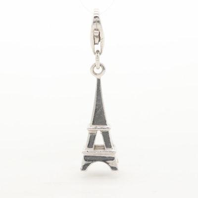 Sterling Silver Eiffel Tower Motif Charm
