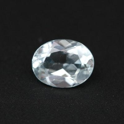 Loose 1.76 CT Aquamarine Gemstone