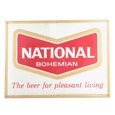 """Large National Bohemian Advertising Sign, """"The Beer for Pleasant Living"""""""
