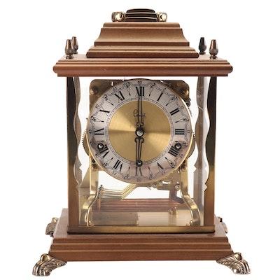 German Schatz & Sohne Seven Jewels Brass Carriage Clock, Vintage