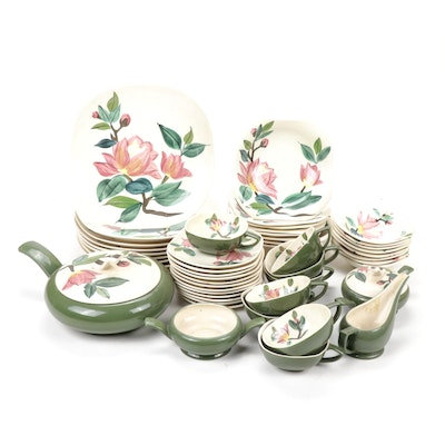 """Red-Wing """"Blossom Time"""" Hand-Painted Tableware, Mid-Century"""