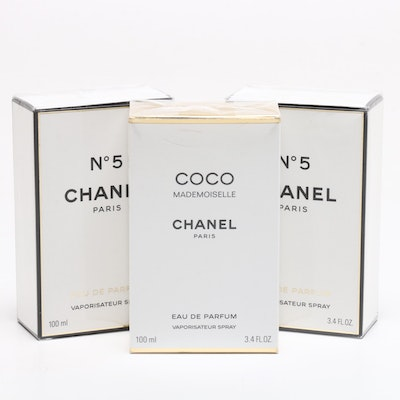 Chanel No 5 and Coco Mademoiselle Perfume