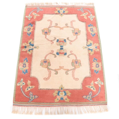 Hand-Knotted Turkish Mahal Wool Rug