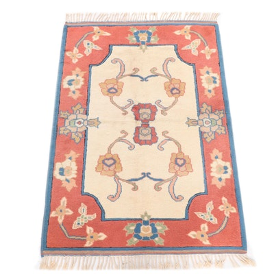 Hand-Knotted Turkish Mahal Wool Rug