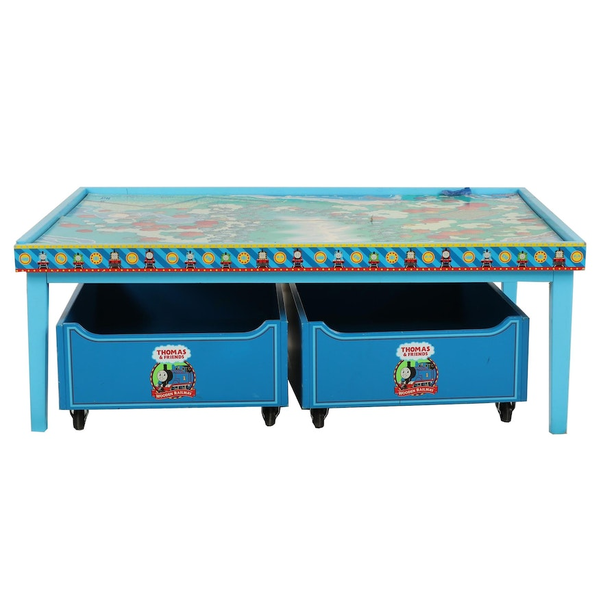 Thomas The Train Themed Children S Table With Storage Bins