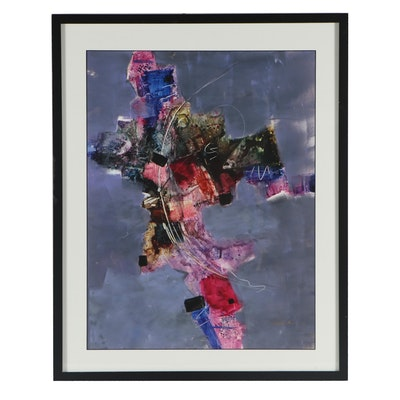 Contemporary Abstract Watercolor Painting