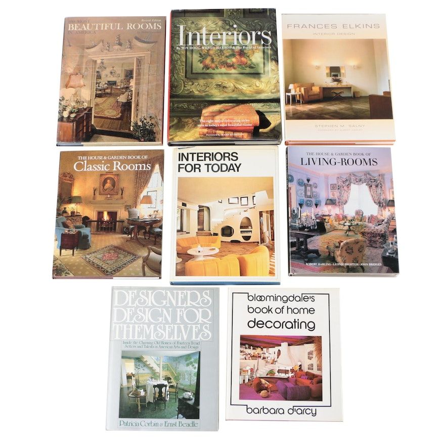 "Interior Design Books including Revised ""100 Most Beautiful Homes in America"""