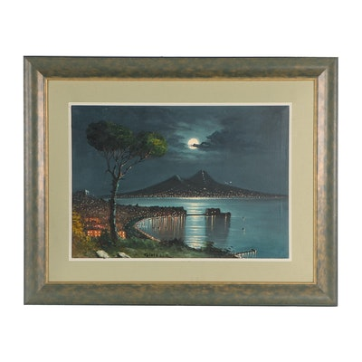 Gioiello Moonlit Landscape Oil Painting