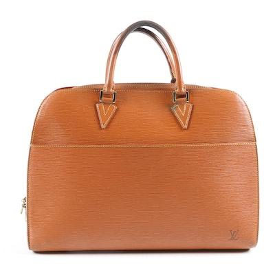 Louis Vuitton Paris Sorbonne Briefcase Bag in Cipango Gold Epi Leather
