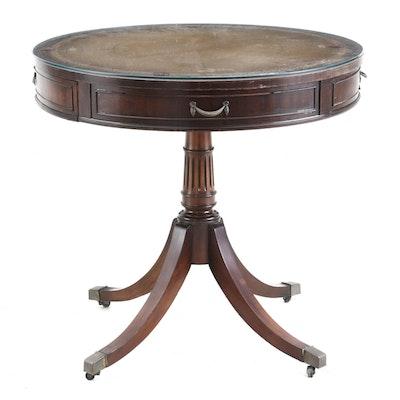 Regency Style Mahogany Library Table, Circa 1940s