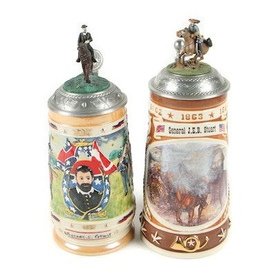 Gerz and CUI Civil War Series Ceramic Beer Steins