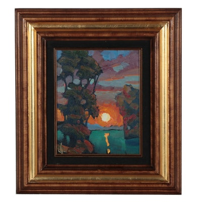 William Hawkins Landscape Oil Painting, 2019