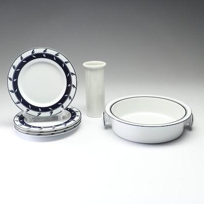 """Dansk Ceramic """"Concerto"""" Plates, """"Bistro"""" Serving Bowl and Vase"""