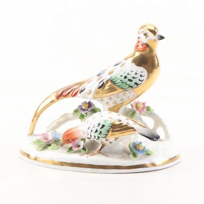 "J.T. Jones Staffordshire ""Golden Pheasant"" Gilt Bone China Figurine"