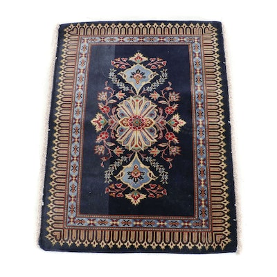 Hand-Knotted Persian Floral Wool Rug