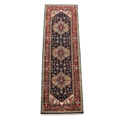 Hand-Knotted Indo-Persian Heriz Long Rug