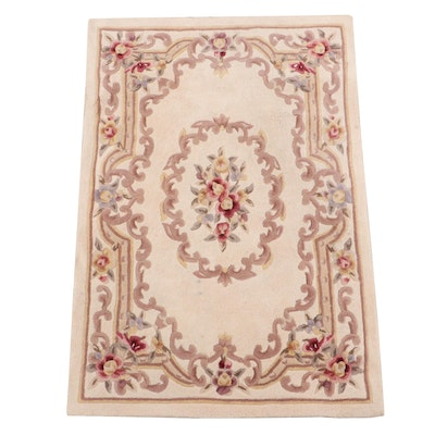 """Hand-Tufted Chinese Majesty Collection """"Aubusson"""" Wool Rug"""