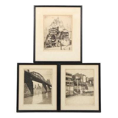 Josef Warkany Etchings of Cincinnati Architecture