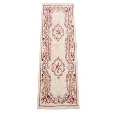 """Hand-Tufted Chinese Majesty Collection """"Aubusson"""" Wool Long Rug"""