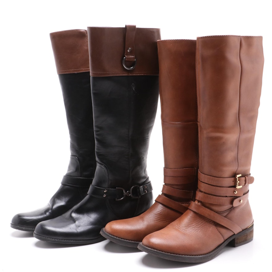 Steve Madden and Bandolino Leather Riding Boots
