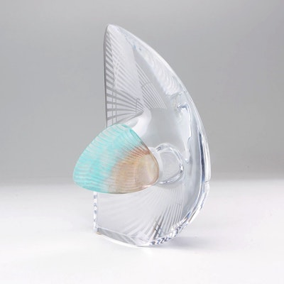 Daum Pate de Verre and Frosted Glass Fish Figurine