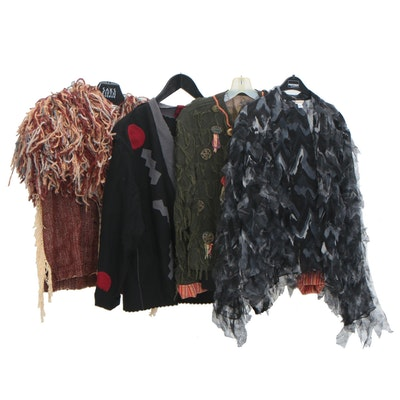 Gene Stucky Handwoven Vest, Toad Hollow Designs Jacket and Other Jackets