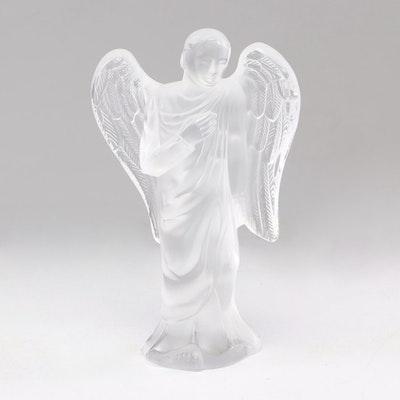 """Lalique Crystal """"Gabriel"""" Angel Figurine"""