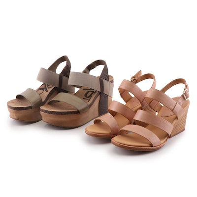 Kork-Ease Brown Gehl Sandals and OTBT Bushnell Wedge Sandals in Coffeebean