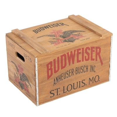 Anheuser-Busch Budweiser Lidded Collector Crate