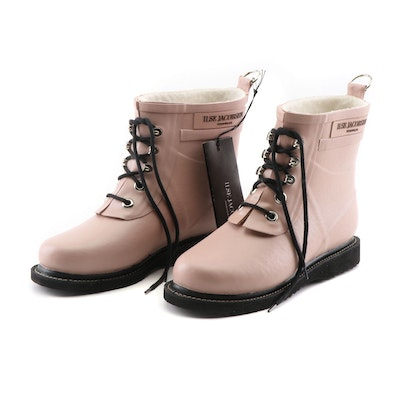 Ilse Jacobsen Hornbæk Handmade Adobe Rose Leather Ankle Boots