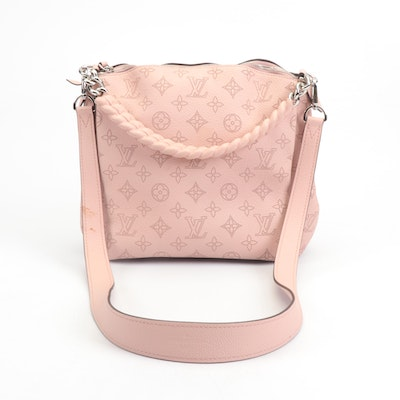 Louis Vuitton Galet Monogram Mahina Leather Babylone Chain BB in Magnolia