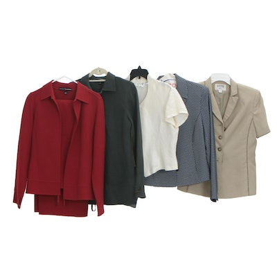Linda Allard for Ellen Tracy Wool Pant Sets with Other Blazers and Blouse