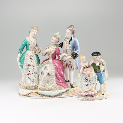 Victorian Style Porcelain Figurines Including Wales