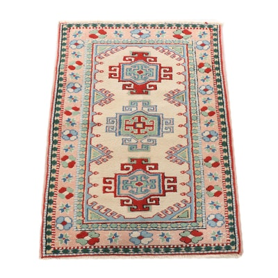Hand-Knotted Turkish Kazak Wool Rug