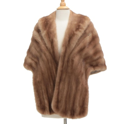 Mink Fur Stole from Shillito's Fur Salon, Vintage