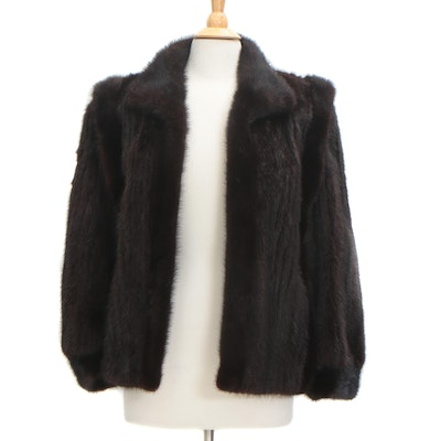 Corded Mink Fur Jacket, Vintage