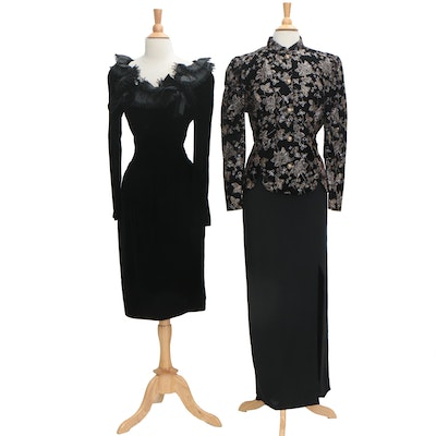 Miss D by Oscar de la Renta Velvet Dress and Another Thyme Evening Separate