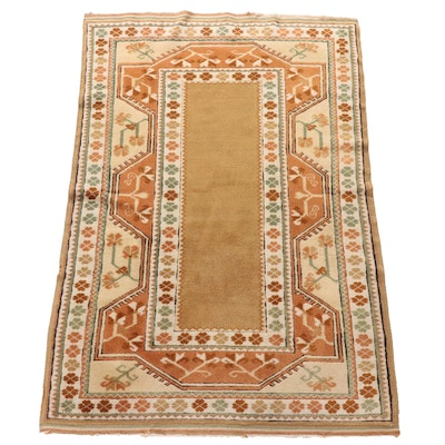 Hand-Knotted Turkish Wool Prayer Rug